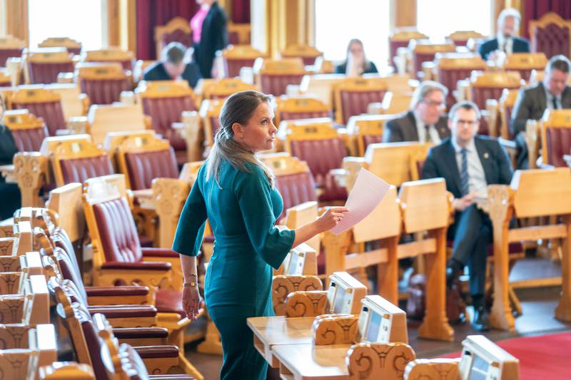 Stortingsmøtet 14. april. Jorunn Gleditsch Lossius
