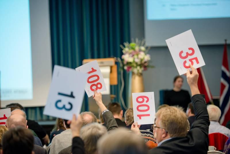 Trondheim 28.03.2019Kirkemøte i Trondheim 2019. Her fra torsdagen. Votering (generelt bilde)FOTO: JOAKIM S. ENGER