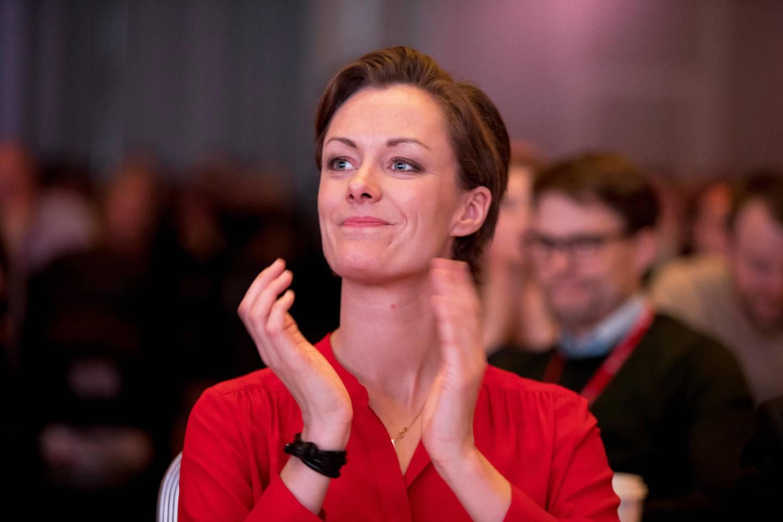 Oslo  20190406. Anette Trettebergstuen under landsmøtet til Arbeiderpartiet i Folkets Hus i Oslo Foto: Terje Pedersen / NTB scanpix