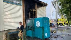 Flammer slo opp fra taket på NLM-bedehus