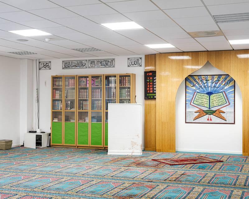Tilskudd til sikring av tros- og livssynssamfunn kom i kjølvannet av fjorårets terrorangrep på Al-Noor Islamic Centre i Bærum. Bildet viser moskeen etter angrepet.