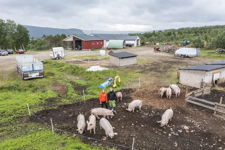 Landbruksminister Olaug Bollestad på gårdsbesøk i Troms.