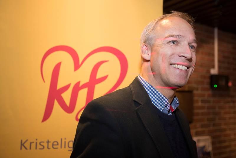 Oslo  20181029. Hans Olav Syversen på ekstraordinært fylkesårsmøte i Oslo KrF. Foto: Terje Pedersen / NTB scanpix