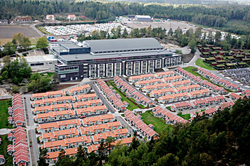 Melsomvik, Brunstad 20050920.Flyfoto av Smiths venners konferansesenter i Melsomvik, Brunstad.Foto: Cornelius Poppe / SCANPIX
