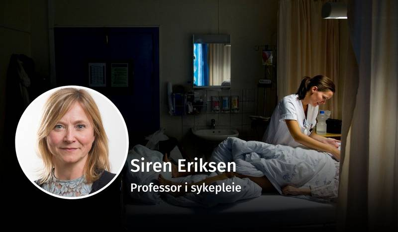 Siren Eriksen, sykepleie, debatt