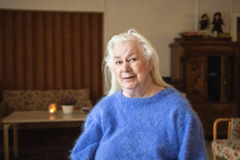 Liv Granli (76) på Fagerborghjemmet. – Det tøffeste er isolasjonen, dag ut og dag inn.