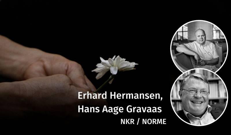 Hans Aage Gravaas, Erhard Hermansen, debatt, påske