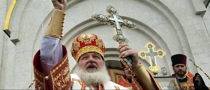Patriark Kirill, her i ei gudsteneste i Moskva i desember, var klar i talen då han måndag møtte Olav Fykse Tveit.
