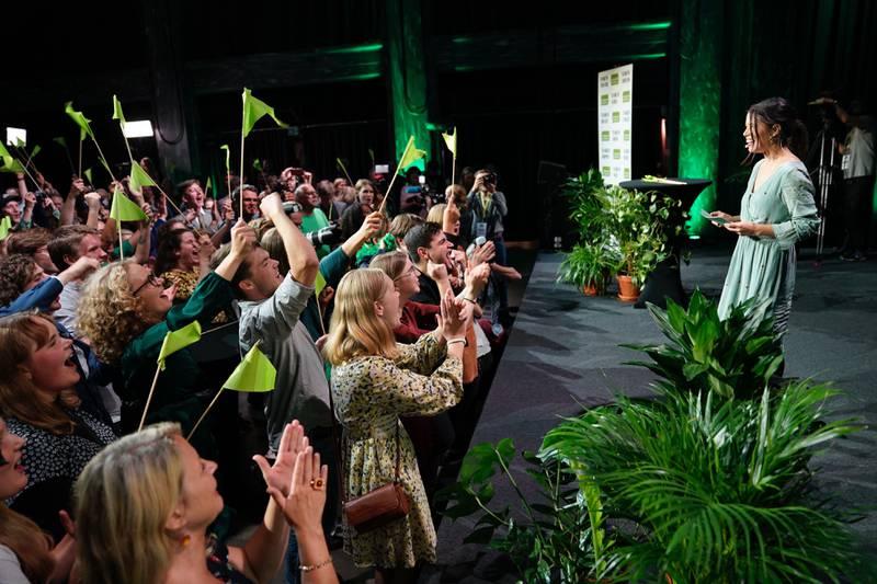 – MDG har endra Noreg for alltid, seier Lan Marie Berg, miljøbyråd i Oslo, på MDGs valvake i Oslo.