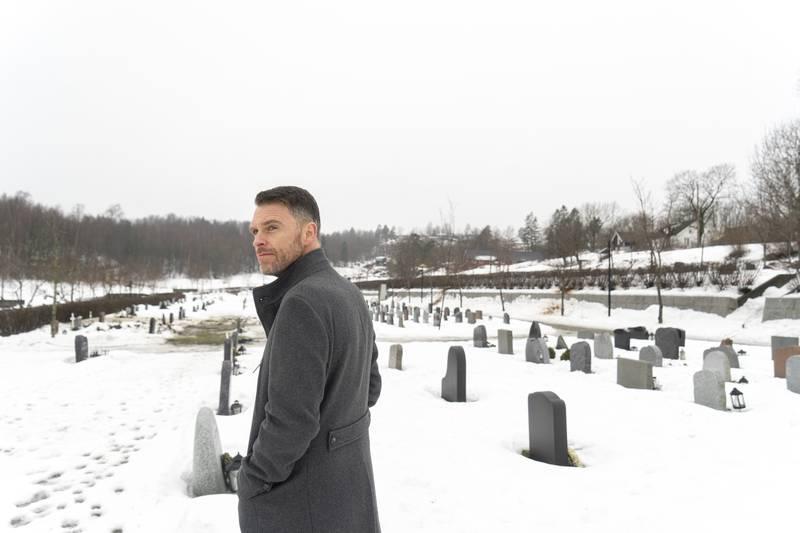 Trygve Jordheim, kommunikasjonsdirektør i KA. Østenstad kirkegård i Asker.