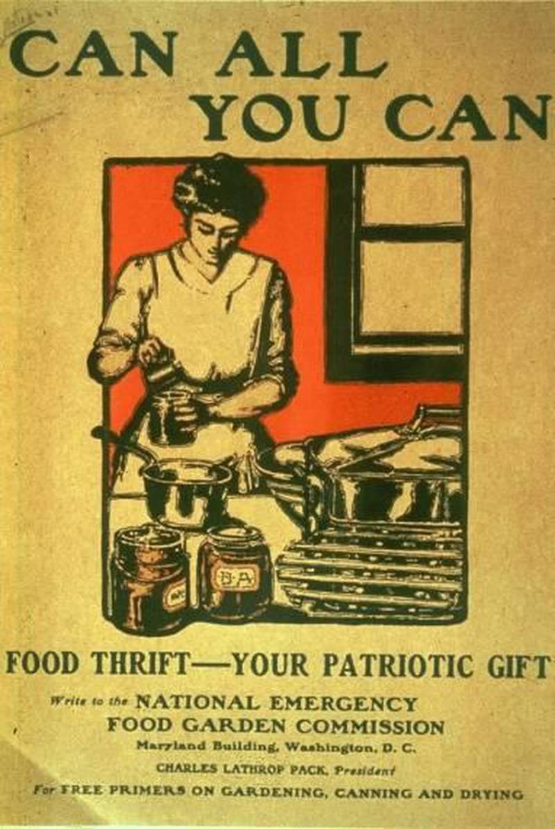 «Can all you can», eller «Can for victory»sto det på store plakater sendt ut fra amerikanske myndigheter under 2. verdenskrig.
