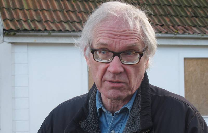 Swedish artist Lars Vilks speaks during an interview with The Associated Press in Malmo, Sweden, Wednesday March 4, 2015. Lars Vilks was used to tight security even before, with round-the-clock police protection at his home in southern Sweden. But after the deadly Feb. 14 attack against a free-speech seminar in Copenhagen, he lives under security measures that seem almost absurd in peaceful Sweden, with heavily armed bodyguards moving him from one secret location to another. (AP Photo/David Keyton)