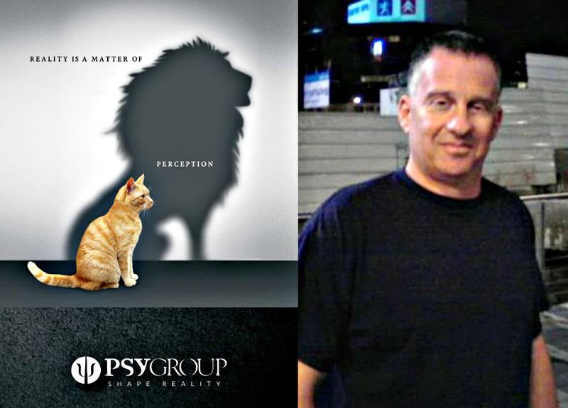 Emmanuel Rosen jobber for Psy-Group. Selskapets motto «Shape reality» hinter om hva slags arbeid og tjenester de tilbyr de anonyme klientene sine. Foto: Bildet er satt sammen av Tønsbergs Blad.