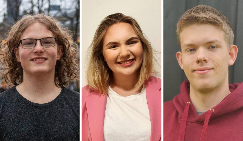 Simen Bondevik, Eline H. Lorentzen, Nestleder Unge Sentrum , Magnus B. Lågøyr,