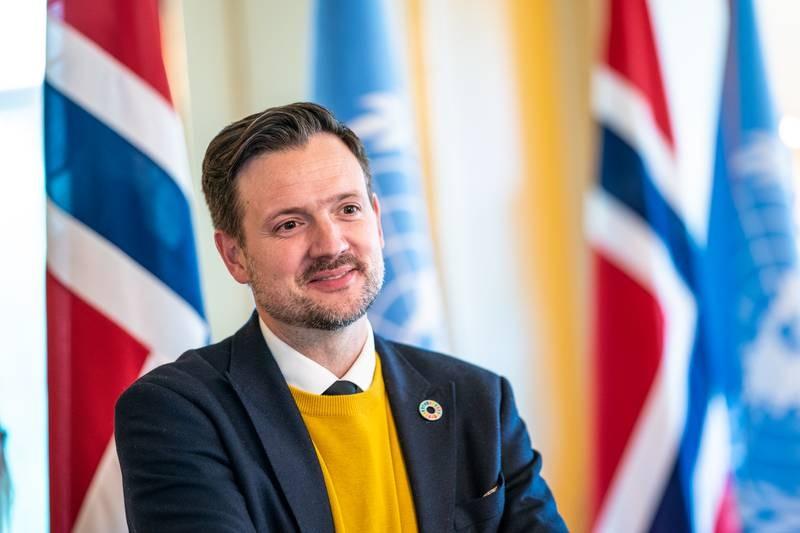 Oslo 20200922.  utviklingsminister Dag-Inge Ulstein i regjeringens representasjonsbolig før åpningen av FNs høynivåuke. Foto: Stian Lysberg Solum / NTB