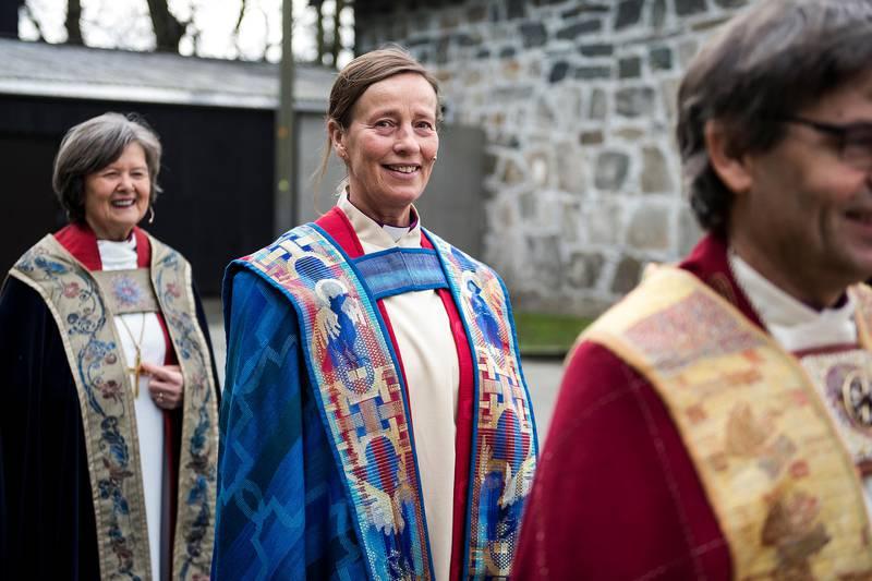 Stavanger  20190317.Anne Lise à dnøy blir vigslet til ny biskop i Stavanger bispedømme søndag 17. mars i Stavanger domkirke.H.M. Kong Harald deltar i vigslingsgudstjenesten.Foto: Carina Johansen / NTB Scanpix
