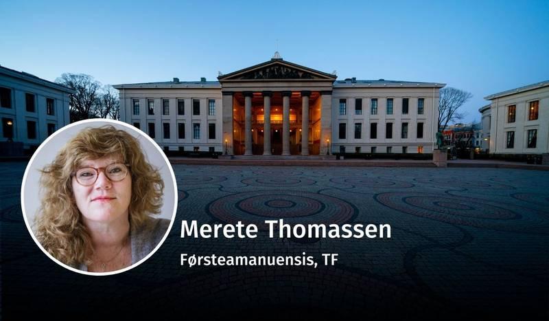 Merete Thomassen, utdanning og klasse, debatt