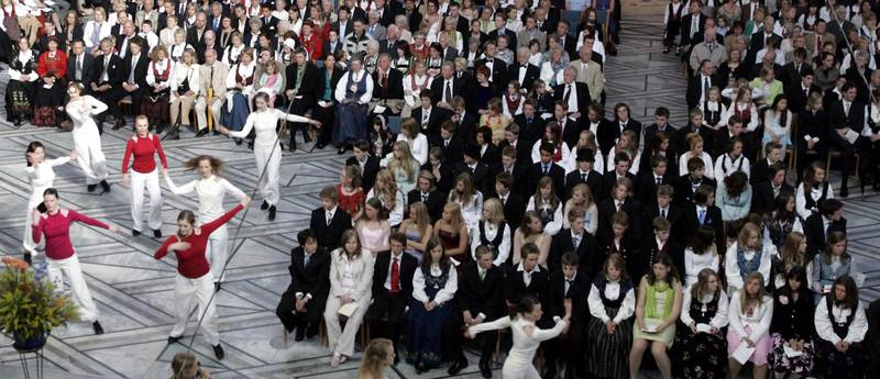Human-Etisk Forbund øker. Bildet er fra borgerlig konfirmasjon (nå kalt humanistisk konfirmasjon) i Oslo rådhus i mai 2005.