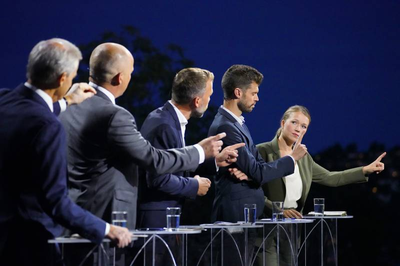 Bastholm på partilederdebatt