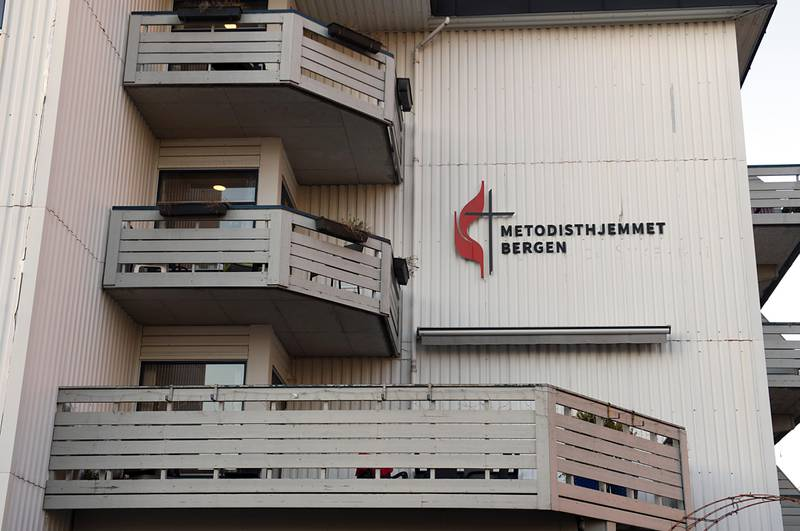 Bergen 20200423.  Torsdag var 11 koronasmittede beboere ved Metodisthjemmet døde og ni andre smittet. Foto: Marit Hommedal / NTB scanpix