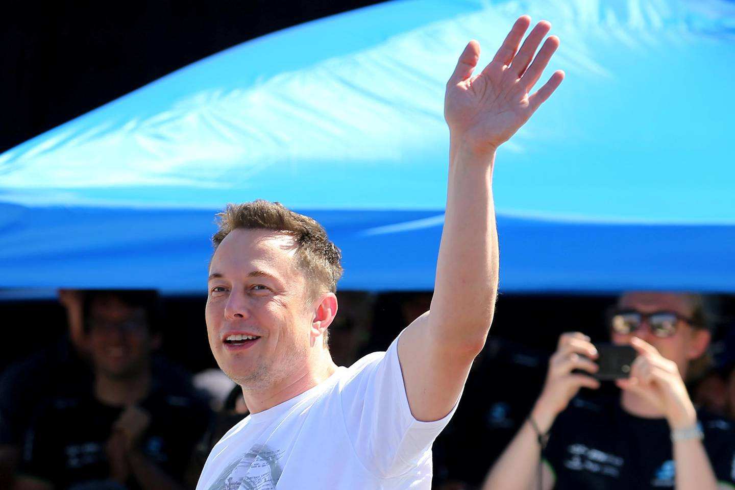 FILE PHOTO: Elon Musk, founder, CEO and lead designer at SpaceX and co-founder of Tesla, arrives at the SpaceX Hyperloop Pod Competition II in Hawthorne, California, U.S., August 27, 2017.  REUTERS/Mike Blake/File Photo