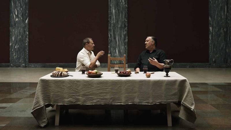 Bjørn Eidsvåg og Svein Tindbergs stykke spilles for tiden på Det Norske Teatret i OsloTor B. Jørgensen festet seg med stykkets oppgjør med læren om fortapelsen som evig pine.