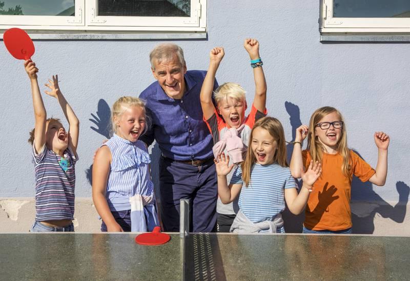 BARNAS VALG: Å vinne valget hos både barna og ungdommen er kanskje den største tillitserklæringen av dem alle, sier Jonas Gahr Støre.