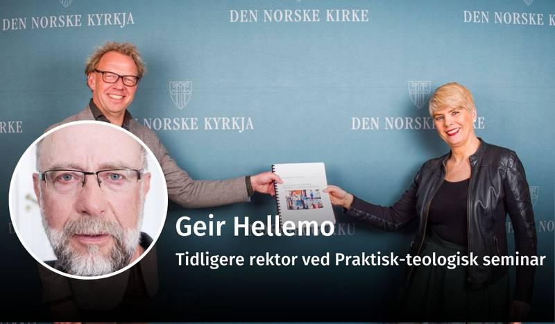 Geir Hellemo, ny kirkelig organisering, debatt