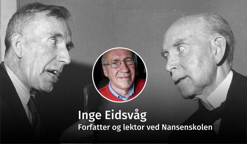 STRID: Hamar biskop Kristian Schjelderup (t.v.) og predikant Ole Hallesby (t.h.) debatterte helvete så blekket sprutet i landets aviser på 1950-tallet.