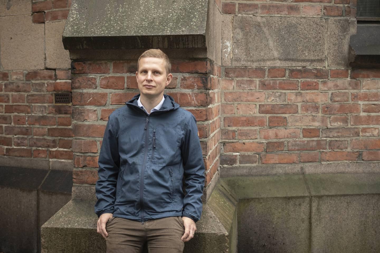 Erik Lunde fotografert for Vårt Land Forlag.