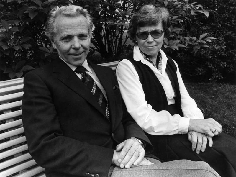 Biskop Ole Nordhaug og Liv Nordhaug, 28.01.1986
