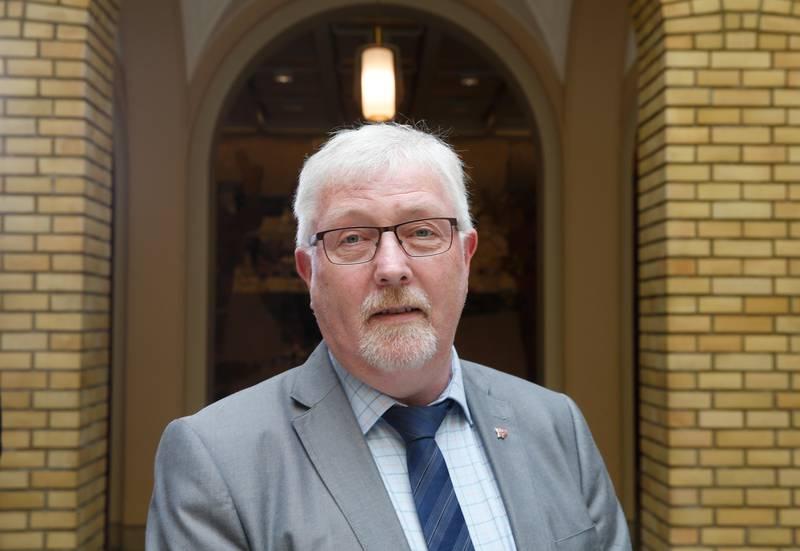 Oslo  20160511. Geir Toskedal (KrF) kommenterer integreringsmeldingen i stortinget onsdag. Foto: Vidar Ruud / NTB scanpix
