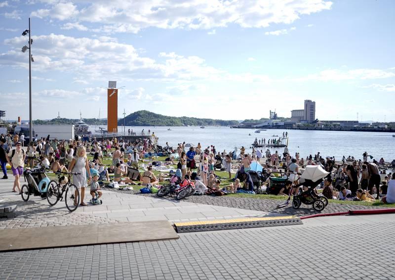 Sydentemperatur i Oslo. Foto: Fredrik Hagen / NTB