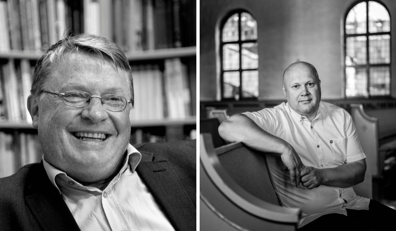 Hans Aage Gravaas og Erhard Hermansen, debatt