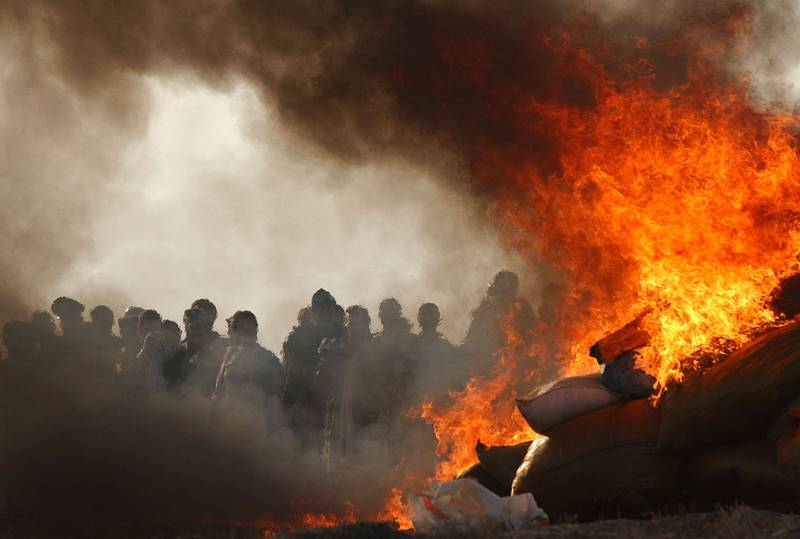 Fleire tonn narkotika i brann utanfor Kabul