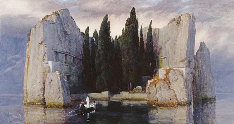 Vår anmelder mener forfatterne av  løfter menneskets forhold til døden inn i en bredere filosofihistorisk kontekst. Her fra maleriet malt av Arnold Böcklin i 1883.