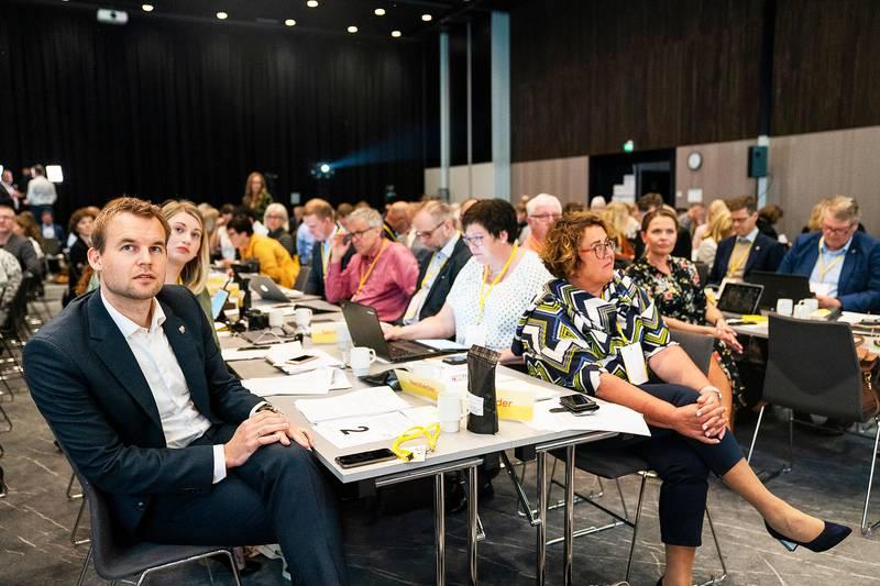 KrFs landsmøte 2019. Kjell Ingolf Ropstad og Olaug Bollestad