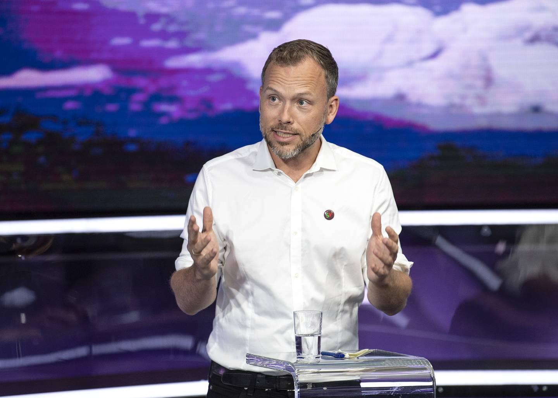 Sosialistisk Venstrepartis partileder Audun Lysbakken lover sluttdato for Frps klimapolitikk. Foto: Marit Hommedal / NTB