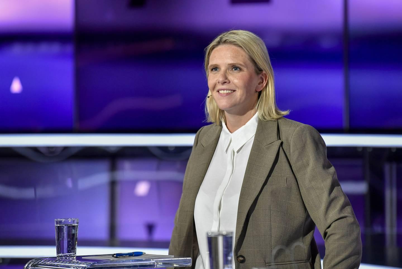 Senterpartiets partileder Trygve Slagsvold Vedum under partilederdebatten på TV2 tirsdag kveld. Foto: Marit Hommedal / NTB