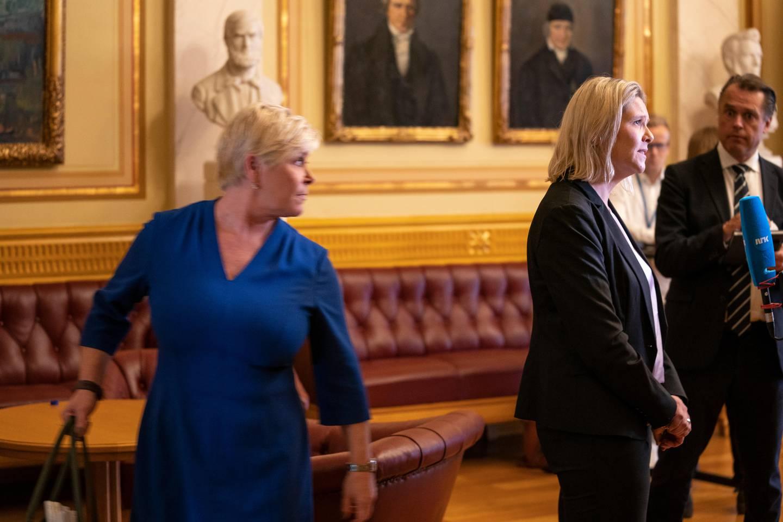 Statsbudsjettet 2020. Sylvi Listhaug og Siv Jensen