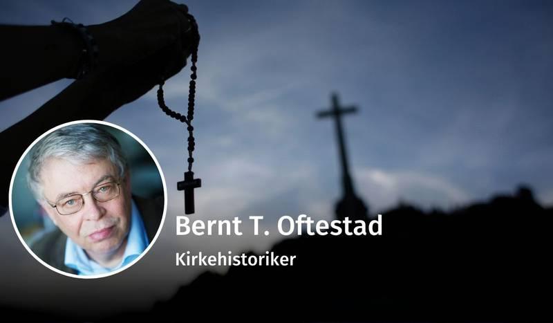 Bernt T. Oftestad, debatt, Hans Nielsen Hauge