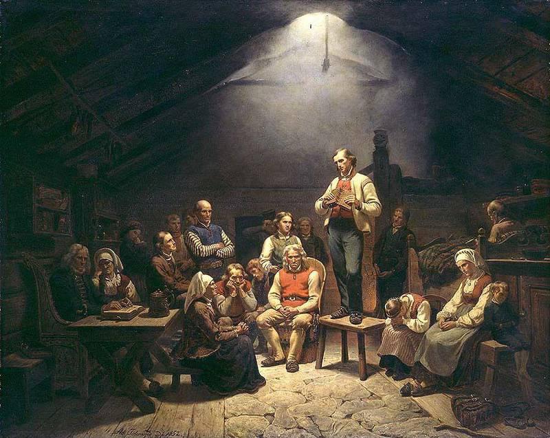 «Haugianerne». Adolph Tidemand (1852).