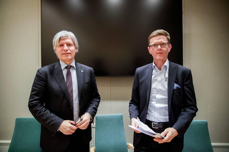 Oslo 20200129.  Venstres to nestledere, Ola Elvestuen og Terje Breivik på stortinget. Foto: Vidar Ruud / NTB scanpix