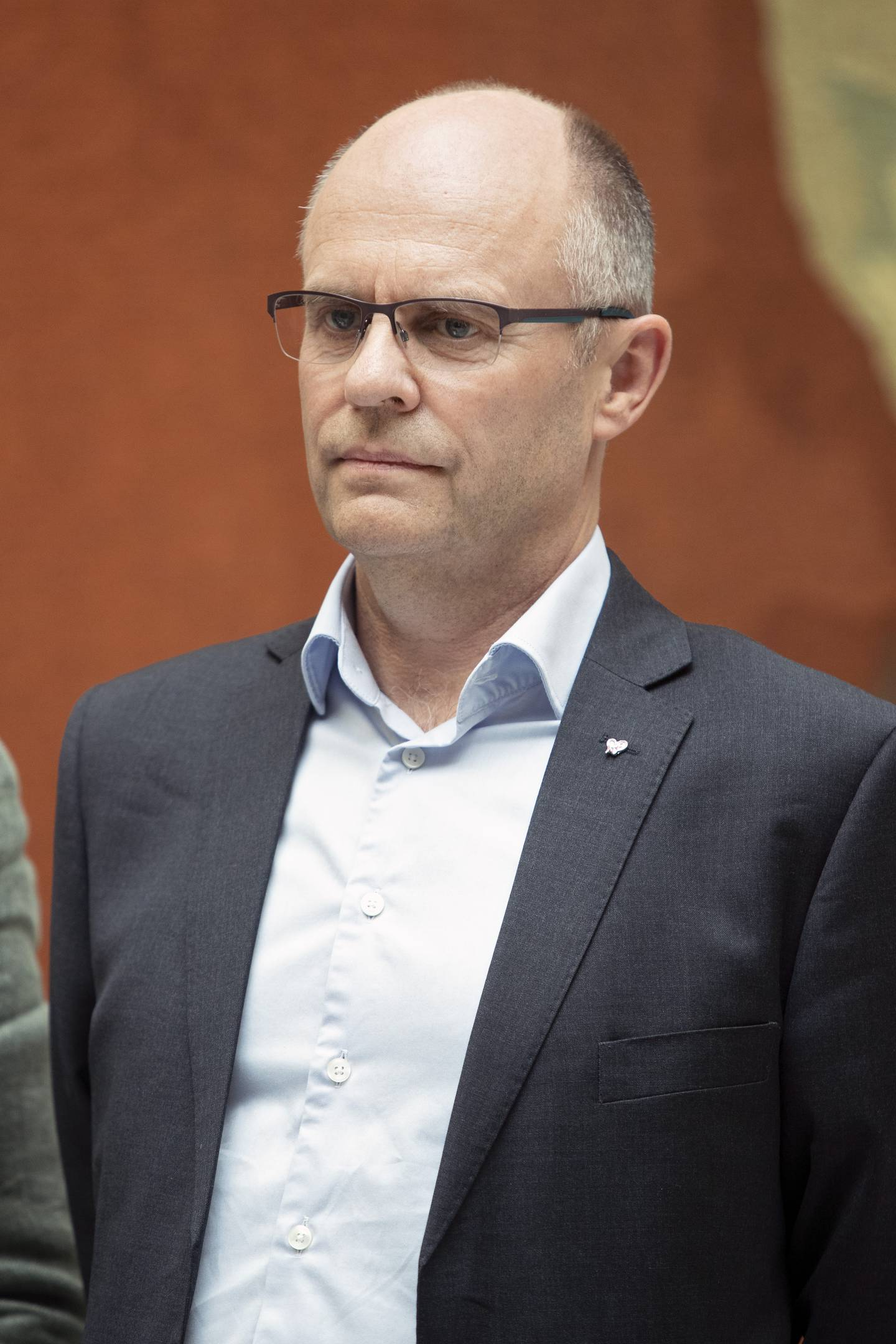 Oslo  20190529. Steinar Reiten (KrF) holder pressekonferanse i Stortingets vandrehall om kompensasjon til pelsdyrbønder. Foto: Ryan Kelly / NTB