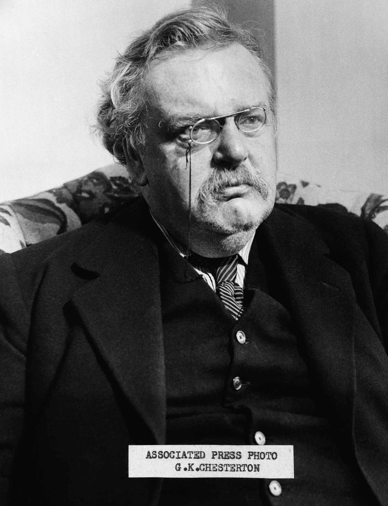 Shown in photo is G. K, Chesterton  author  undated photo. (AP Photo)