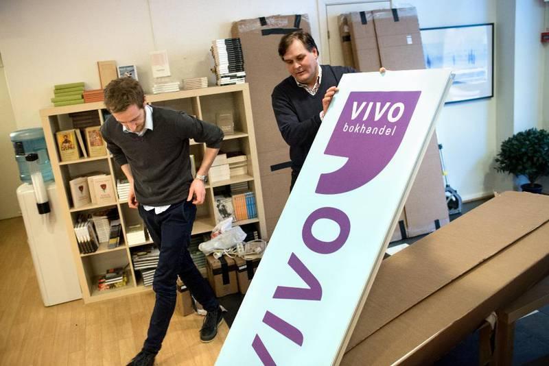 For to år siden viste Pål-André Laurtizen frem bokhandlerkjeden Vivos nye grafiske profil. Nå går det mot slutten for kjeden.