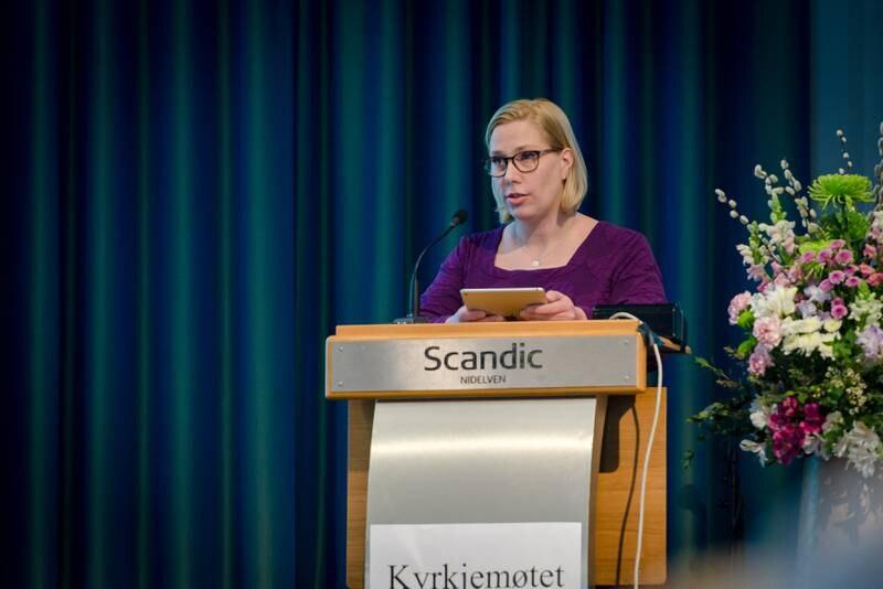Trondheim 28.03.2019 Kirkemøte i Trondheim 2019. Her fra torsdagen. Therese K. B. Utgård. FOTO: JOAKIM S. ENGER