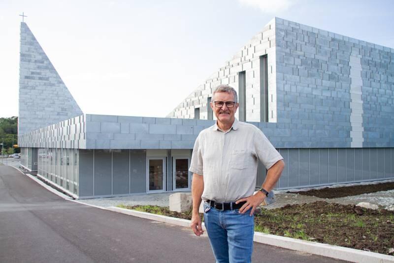 Martin Ivar Arnesen, sokneprest i Strand, nye Tau kyrkje