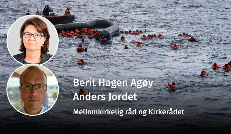 DRUKNER PÅ VÅR VAKT: – På tross av alle farer og forbud så fortsetter mennesker å forsøke å komme seg til Europa. Den eneste forskjellen nå, er at vi lar dem drukne, skriver Berit Hagen Agøy og Anders Jordet.