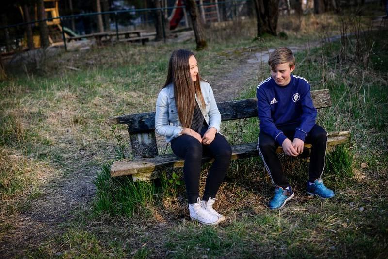 Celine Aletta Flinterud og Eirik Nagvik skal begge konfirmere seg i kyrkja til hausten.